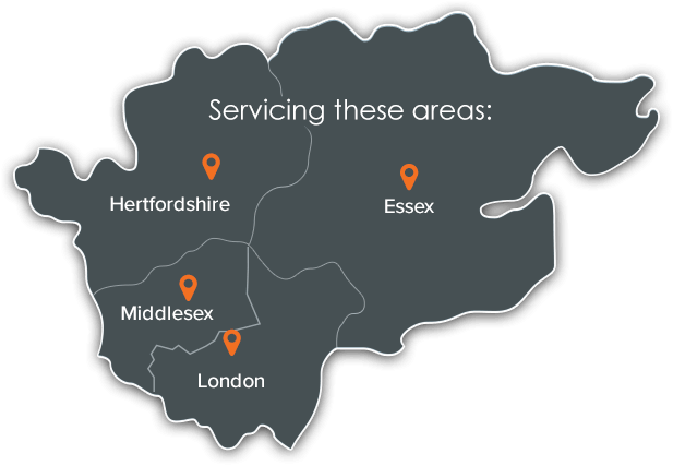 Servicing these areas; Hertfordshire, Middlesex, London and Essex